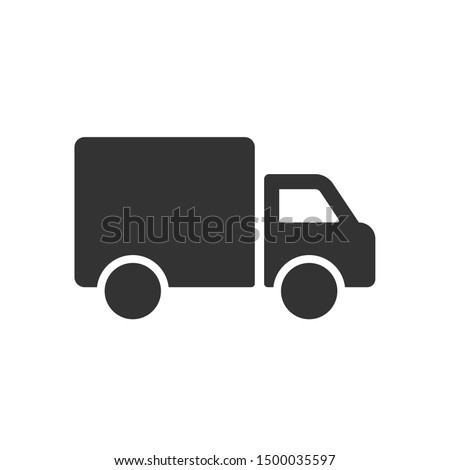 Simple truck silhouette, Delivery icon