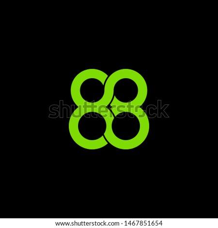 simple typography 88 vector logo