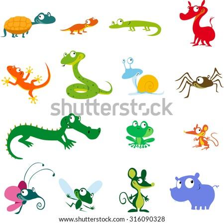 simple vector animals cartoon
