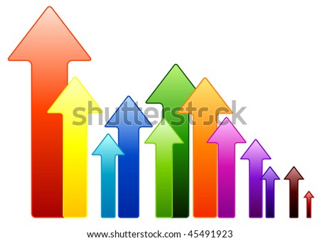 Simple vector arrows in various color.