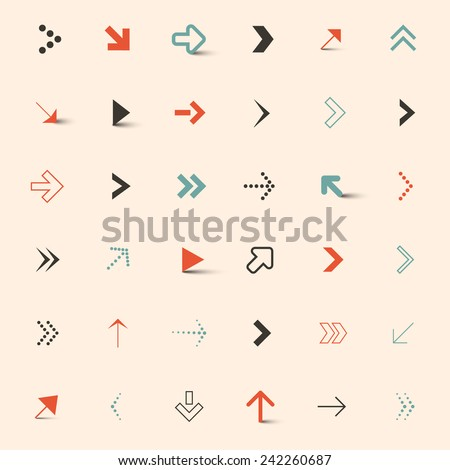 Simple Vector Arrows Set