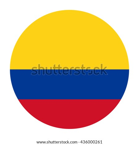 Simple vector button flag - Colombia Stock photo ©
