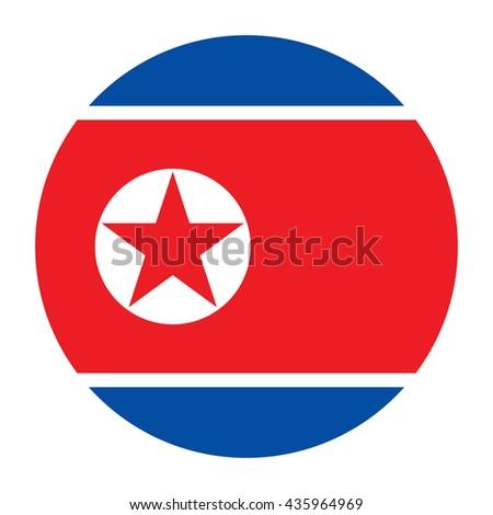 simple vector button flag