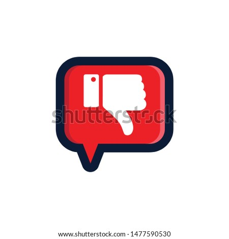 SIMPLE VECTOR DESIGN ABOUT DISLIKE CHAT EPS 10..eps