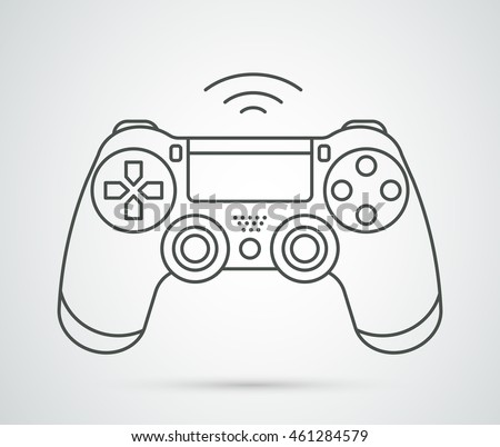 simple vector gamepad icon