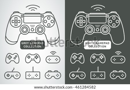 simple vector gamepad icon set