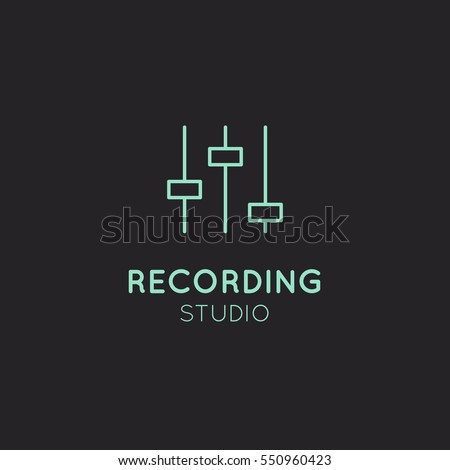 simple vector icon style music