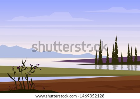 simple vector landscape with