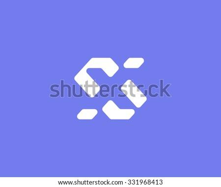 simple vector logo in a