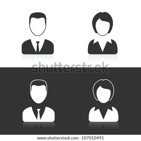 male creative avatar icon vectors - download free vector art