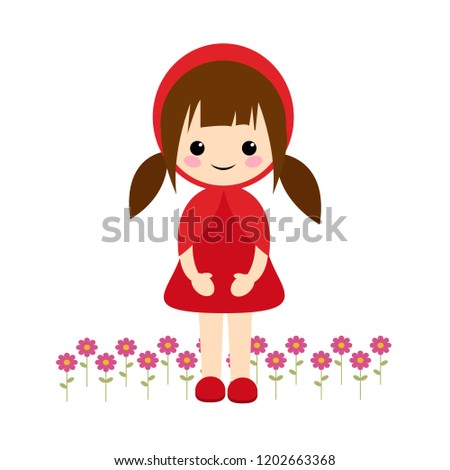 simple vector of little red