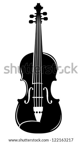 simple vector silhouette of a violin