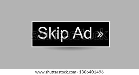 Simple Vector Skip Ad Button