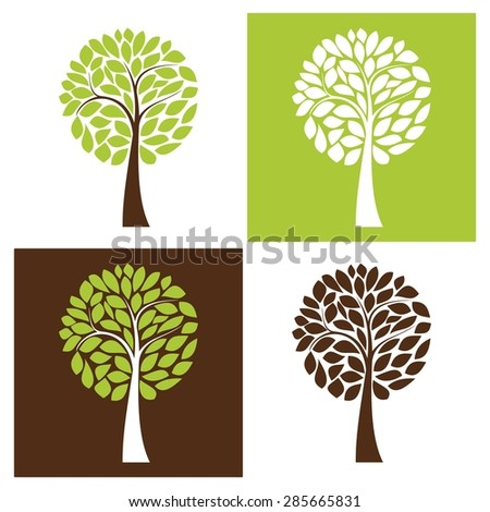 simple vector tree set  four