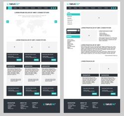 Simple Vector Website Template Design