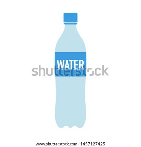 simple water bottle in flat