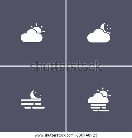 simple 4 weather icons