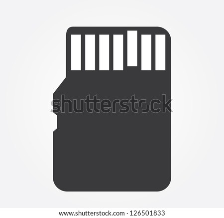 Simple web icon in vector: compact memory card
