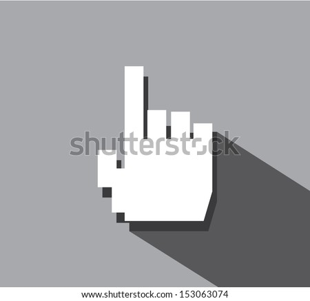 simple web icon in vector  hand