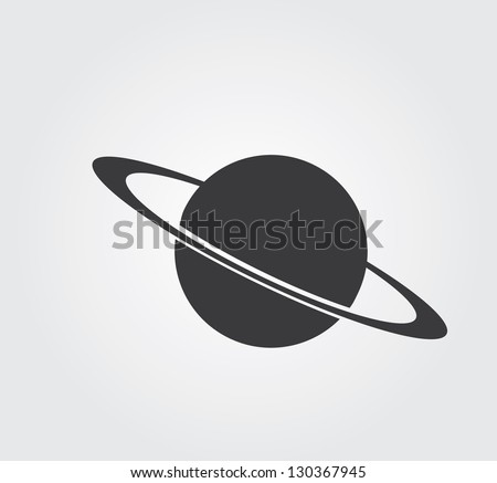 Simple web icon in vector: planet