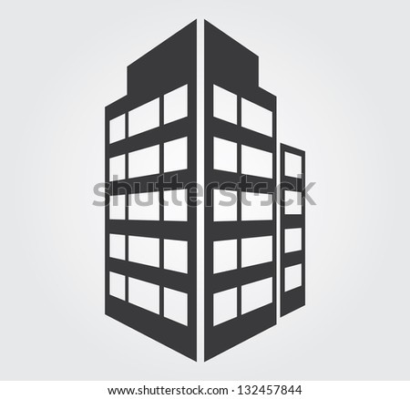 Simple web icon in vector: skyscraper
