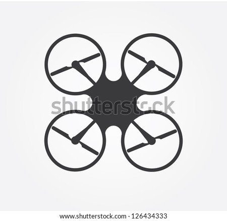 Simple website icon in vector: quadro copter