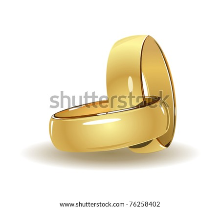 stock vector Simple wedding rings