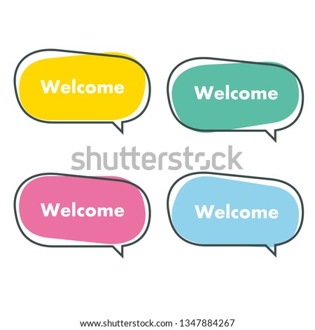 simple welcome banner vector illustration
