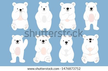 simple white bear characteruse