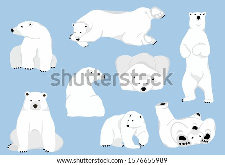 simple white bear character