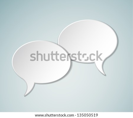 Simple white Vector Comic Speech bubbles