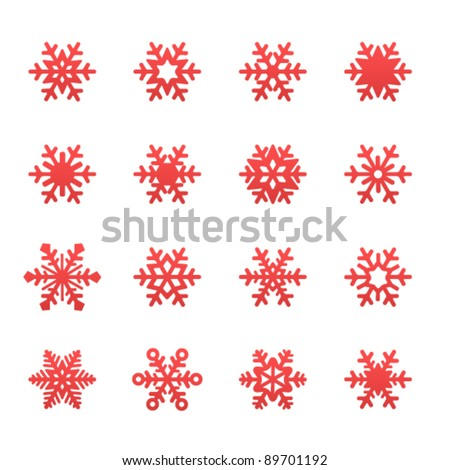 Simple winter snowflakes