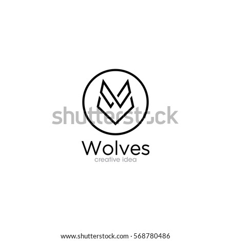 simple wolf creative concept