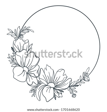 simple wreath with blooming