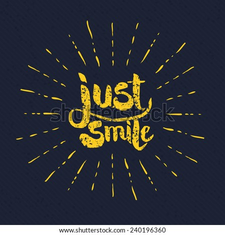 simple yellow just smile texts