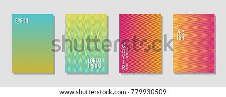simple zig zag lines gradient