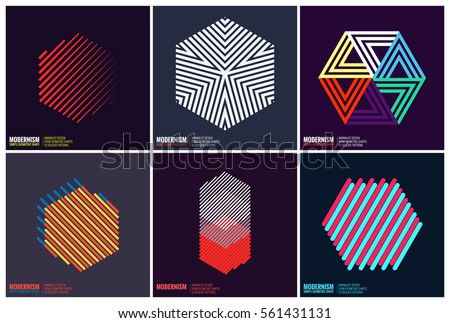 geometric shape set download free vector art stock graphics images