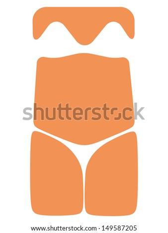 simplified female torso