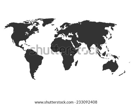 World map silhouette download free vector art stock graphics simplified silhouette of world map vector illustration gumiabroncs Image collections