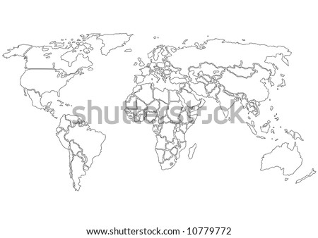 world map countries only