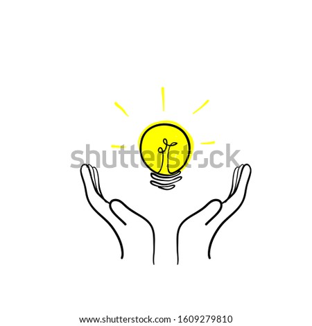 Simplifying the complex, confusion clarity or path. vector idea concept with lightbulbs doodle illustration Photo stock ©