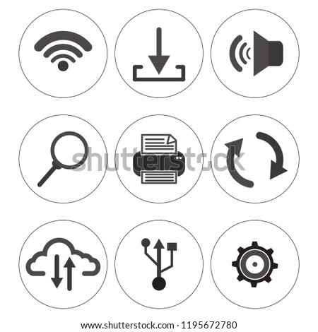 Simplus series icon set  devices. computer