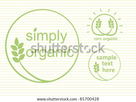 simply organic vector label