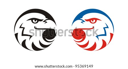 simply stylized eagle on white