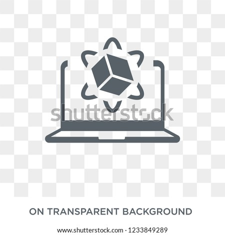 Simulation icon. Trendy flat vector Simulation icon on transparent background from Programming collection.