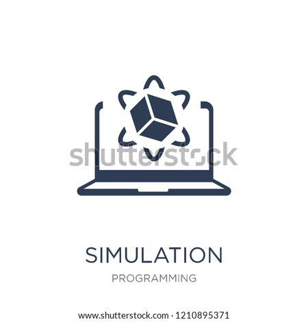 Simulation icon. Trendy flat vector Simulation icon on white background from Programming collection, vector illustration can be use for web and mobile, eps10