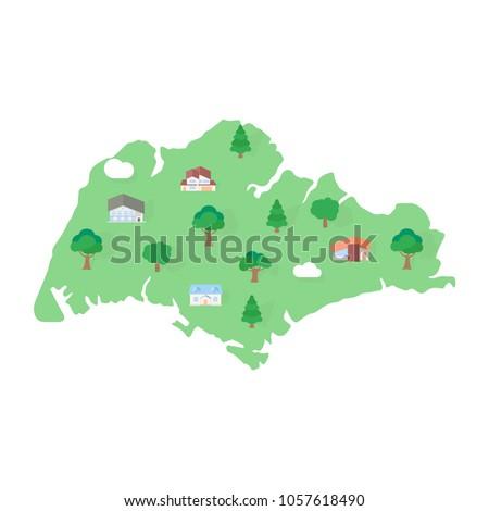 Singapore Asian map real estate