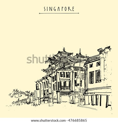 singapore china town drawing