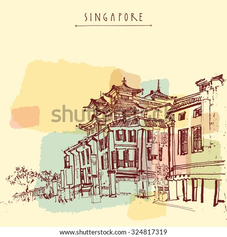 singapore china town drawing....