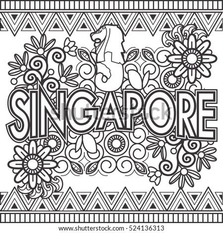 singapore doodle art text